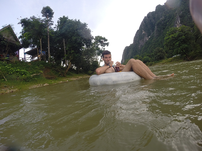 Vang Vieng, Laos – Birthday Tubing and Boozing