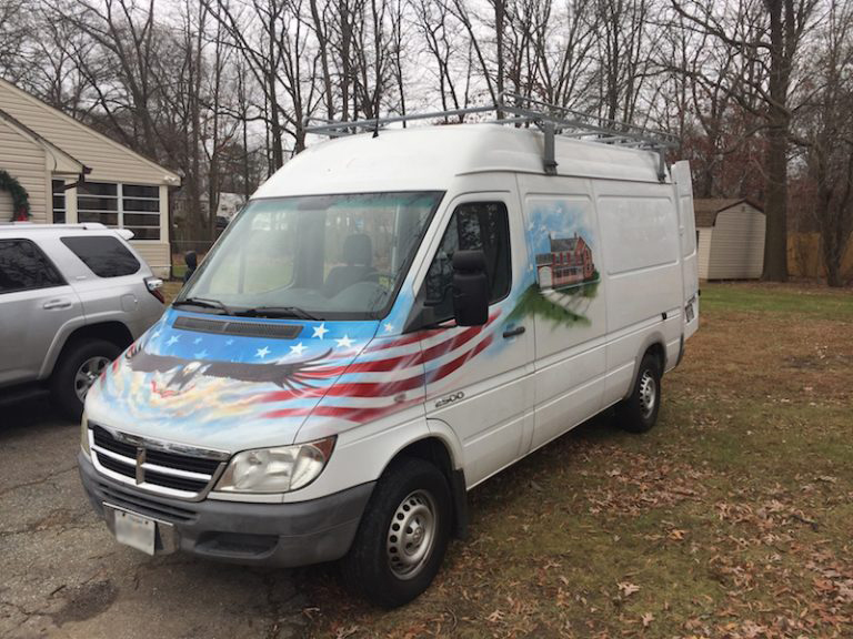 We just bought a van and it has another eagle on it (not kidding)